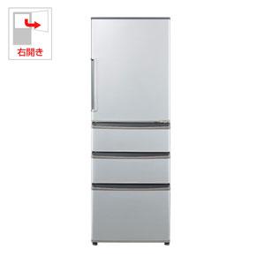 AQR-361F-S アクア 355L 4ドア冷蔵庫(ミスティシルバー)【右開き】 AQUA [AQR361FS]【返品種別A】(標準設置料込)