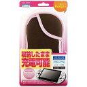 【PS Vita】PSVITAシリーズ用 スリムソフトケース(ピンク×ブラウン) アローン ALG-PVSSCP 【返品種別B】