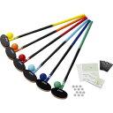 GGG113-F アシックス グラウンドゴルフ クラブ・樹脂ボール6色セット(サイズ:83cm