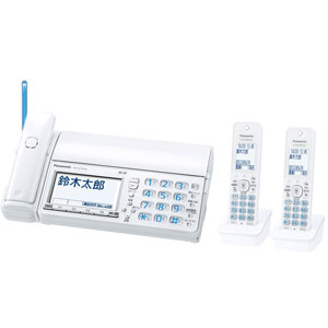 KX-PZ710DW-W パナソニック デジタルコードレス普通紙ファクス(子機2台付き) ホワイト Panasonic おたっくす [KXPZ710DWW]【返品種別A】