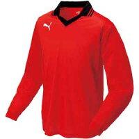 PAJ-903300-03-L プーマ サッカー ゲームシャツ(プーマレッド・Lサイズ) PUMA(プーマ) 衿付き長袖ゲームシャツ [PAJ90330003L]【返品種別A】の画像