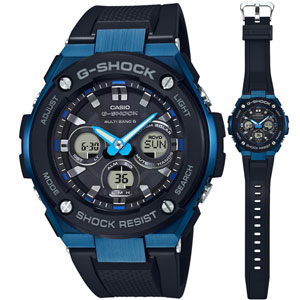 GST-W300G-1A2JF カシオ G-SHOCK G-STEEL Gショック ソーラー電波時計 メンズタイプ [GSTW300G1A2JF]【返品種別A】