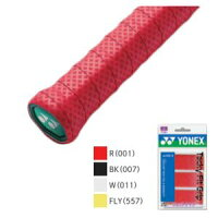 YONEX AC143-3 001 ヨネックス タッキーフィットグリップ 3本入(レッド・幅25mm×長さ1200mm×厚さ0.7mm) YONEXの画像