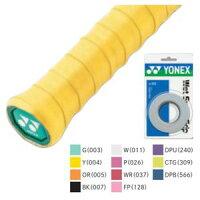 YONEX AC102 005 ヨネックス ウェットスーパーグリップ 3本入(オレンジ・幅25mm×長さ1200mm×厚さ0.6mm) YONEXの画像