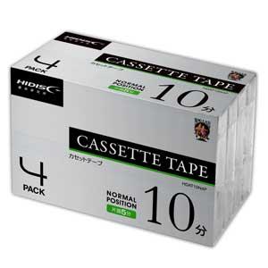 HDAT10N4P HIDISC 10分 ノーマルテープ 4本パック