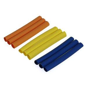 (S10)3カラー収縮チューブ 5mm(青・黄・橙) 各3pcs【3125】 イーグル模型