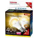 LDA4L-G-E17/S/40W2P 東芝 LED電球 小形電球形 440lm(電球色相当)【2個セット】 TOSHIBA