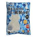 ショッピング猫砂 ミュウサンド 固まる流せる白い紙製の砂 7L クリーンミュウ シーズイシハラ カタマルナガセルシロイカミスナ7L