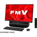 【500円クーポン9/26am1:59迄】FMVF90B3B 富士通 27型 デスクトップパソコンFMV ESPRIMO FH90/B3 オーシャンブラック (Office Home&Business Premium プラス Office 365)