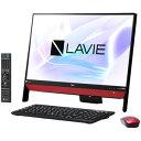 PC-DA370KAR NEC 23.8型 デスクトップパソコンLAVIE Desk All-in-one DA370/KAシリーズラズベリーレッド LAVIE 2018年 春モデル(Celeron/メモリ4GB/HDD 1TB/Office Personal)
