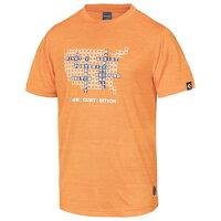 CBE281320-5600-L コンバース メンズ BACKCOURT EDITION プリントTシャツ(裾ラウンド)(オレンジ・サイズ:L) CONVERSEの画像