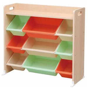 アイリスオーヤマ おもちゃ箱 天板・本棚付き