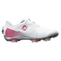 99069W23 フットジョイ レディース・ゴルフシューズ (ホワイト+ピンク・23.0cm) DRYJOYS Boa #99069の画像