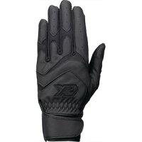 BBG-85 9090 M ザナックス 2P バッティング手袋(両手用)(高校野球ルール対応モデル)(ブラック×ブラック・サイズ:M 24〜25cm) xanax BATTERS GLOVEの画像