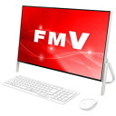 FMVF52C2W 富士通 23.8型 デスクトップパソコン FMV ESPRIMO FH52/C2 ホワイト [Celeron/メモリ 4GB/HDD 1TB/Office Personal 2016]※2018年夏モデル