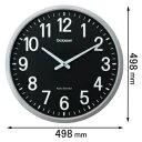 GDK-001K キングジム 電波掛け時計 ザラージ [GDK001K]【返品種別A】