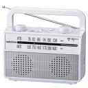 RAD-M067Z-W オーム ワイドFM/AM ラジオ付耳元スピーカー AudioComm OHM