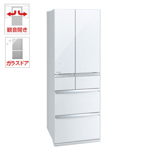 (標準設置料込)MR-WX47D-W 三菱 470L 6ドア冷蔵庫(クリスタルホワイト) MITSUBISHI 置けるスマート大容量 WXシリーズ