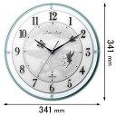 4MY854MT05 リズム時計 電波掛け時計 ディズニー ティンカー・ベル
