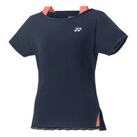 YO 20419 019 XO ヨネックス テニス・バドミントン ウェア(レディース)(ネイビーブルー・サイズ:XO) YONEX シャツ(スリムタイプ)の画像