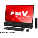 FMVF90C3B 富士通 27型デスクトップパソコン FMV ESPRIMO FH90/C3 ブラック (Core i7/メモリ 8GB/HDD 3TB/Office H&B 2016)