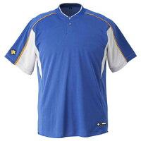 DS-DB104B-RYSL-O デサント ベースボールシャツ(RYSL・サイズ:O) DESCENTE 2ボタンベースボールシャツ(レギュラーシルエット)の画像
