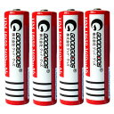 LDC-364A グッド グッズ 18650型 充電式リチウムイオン電池 4本(ケース入り) GOODGOODS