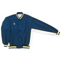 CON-CB182112S-2911-O コンバース 男女兼用 ウォームアップジャケット(前ボタン・裾フライスタイプ)(ネイビー×ホワイト・サイズ:O) CONVERSEの画像