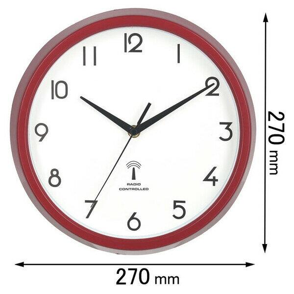 27266 不二貿易 電波掛け時計 カペラ(レッド) [27266]【返品種別A】