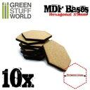 MDFベース 六角形型セット(直径35mm) 10枚入【GSWD-9356】 グリーンスタッフワールド