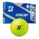 EXTRA SOFT 19 YE 12P ブリヂストンゴルフ ゴルフボール EXTRA SOFT 1ダース 12個入り (イエロー) BRIDGESTONE EXTRA SOFT XBYXJ