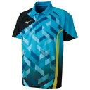 82JA801024150 ミズノ 卓球用ゲームシャツ(ジュニア)(アクエリアス・サイズ:150cm) MIZUNO 82JA8010_j