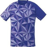 GOS-T1930-75-140 ゴーセン ユニセックス ゲームシャツ(パープル・サイズ:140cm) GOSEN テニス・バドミントン用シャツの画像