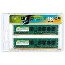 SP016GBLTU160N22 シリコンパワー PC3-12800(DDR3-1600)240pin DDR3 SDRAM DIMM 16GB(8GB×2枚)