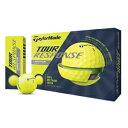 TM-TRES-12P-YE テーラーメイド ツアーレスポンス ゴルフボール 1ダース12個入り(イエロー) TaylorMade TOUR RESPONSE BALL