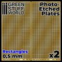 エッチングメッシュプレート 0.5mm長方形(小)【GSWD-10110】 グリーンスタッフワールド
