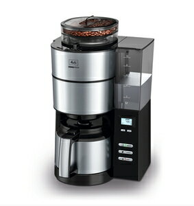 Melitta(メリタ) ミル付き全自動コーヒーメーカー アロマフレッシュサーモ 2~10杯用 ブラック AFT1021-1B