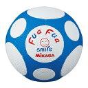 FFF4-WB ミカサ サッカーボール 4号球 MIKASA ふぁふぁスマイルサッカー(ホワイト/ブルー)