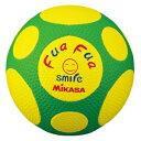 FFF4-YG ミカサ サッカーボール 4号球 MIKASA ふぁふぁスマイルサッカー(イエロー/グリーン)