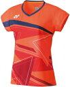 YO-20521-686-L ヨネックス レディース ゲームシャツ(フラッシュオレンジ・サイズ:L) YONEX