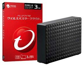 ウイルスバスタークラウド 3年3台版(DVD-ROM) + Seagate USB3.1(Gen1)/USB3.0接続 外付けハードディスク 4.0TB 2点セット