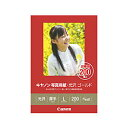 純正用紙 キヤノン 写真用紙・光沢 ゴールド L判 200枚 Canon