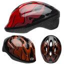 BELL ZOOM2 ズーム2 ブラックxレッドフレイムス ヘルメット/ ベル 自転車 子供用ヘルメット【PT_UP】