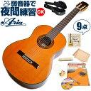 クラシックギター 初心者 セット アリア A-20 (シダー材 単板) Aria アコースティック (9点 入門 セット ハードケース)
