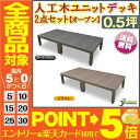 【予約販売4/24以降発送】人工木ユニットデッキ オープンタイプ ・2点セット・0.5坪【
