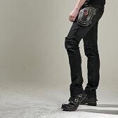 【uglyBROS】 MOTO PANTS FEATHERBED BLACK モトパンツ フェザーベッド ブラック アグリーブロス ライディングジーンズ デニム バイク用 パンツ