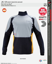 ���ߥ�JKL-120�����ѡ��ե��åȥ�����ɥ��ȥåѡ�®�饤�ʡ������KOMINE03-120SuperFITWINDSTOPPER®LinerShirt