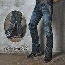 【uglyBROS】モトパンツ フェザーベッド 201 MOTO PANTS FEATHERBED-201 アグリーブロス ライディングジーンズ デニム バイク用 パンツ