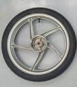 スーパーカブ110用 ホイールタイヤセット ホンダ純正ホイール+シンコー製タイヤ HONDA SHINKO フロントホイール