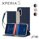 Xperia5 ケース 手帳 ストラップ付 SO-01M S...